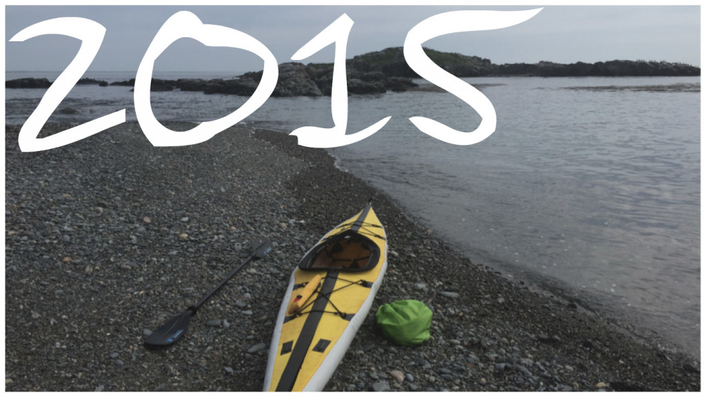 Kayaking the Boston Harbor in 2015.