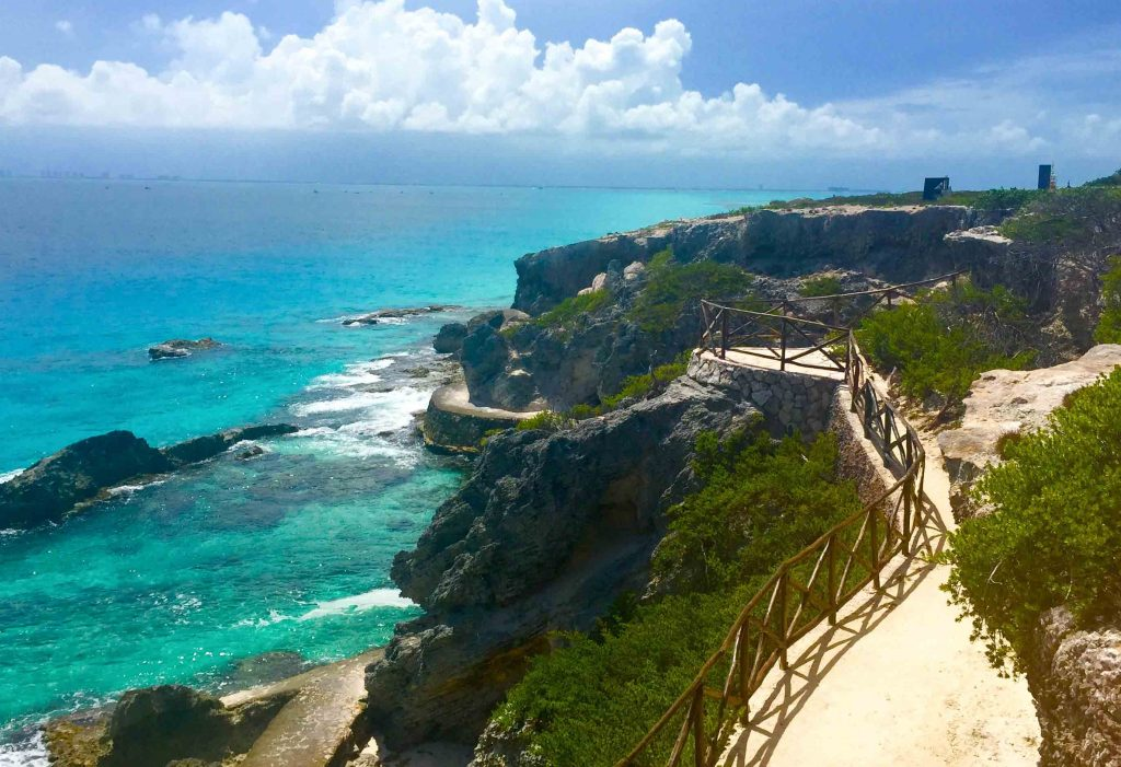 The southern tip of Mexico's Isla Mujeres.