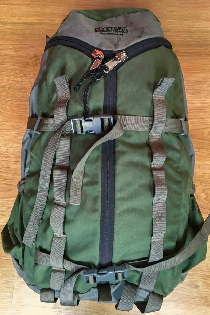 Mystery Ranch Snapdragon backpack (precursor to the Rush Pack).
