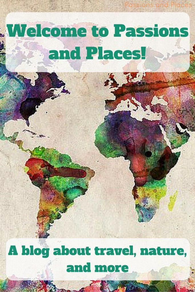 Watercolor world map pin
