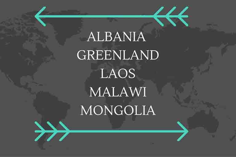Jen's top five places to visit? Albania, Greenland, Laos, Malawi, Mongolia. They may not have much in common, but they're all off the beaten path.
