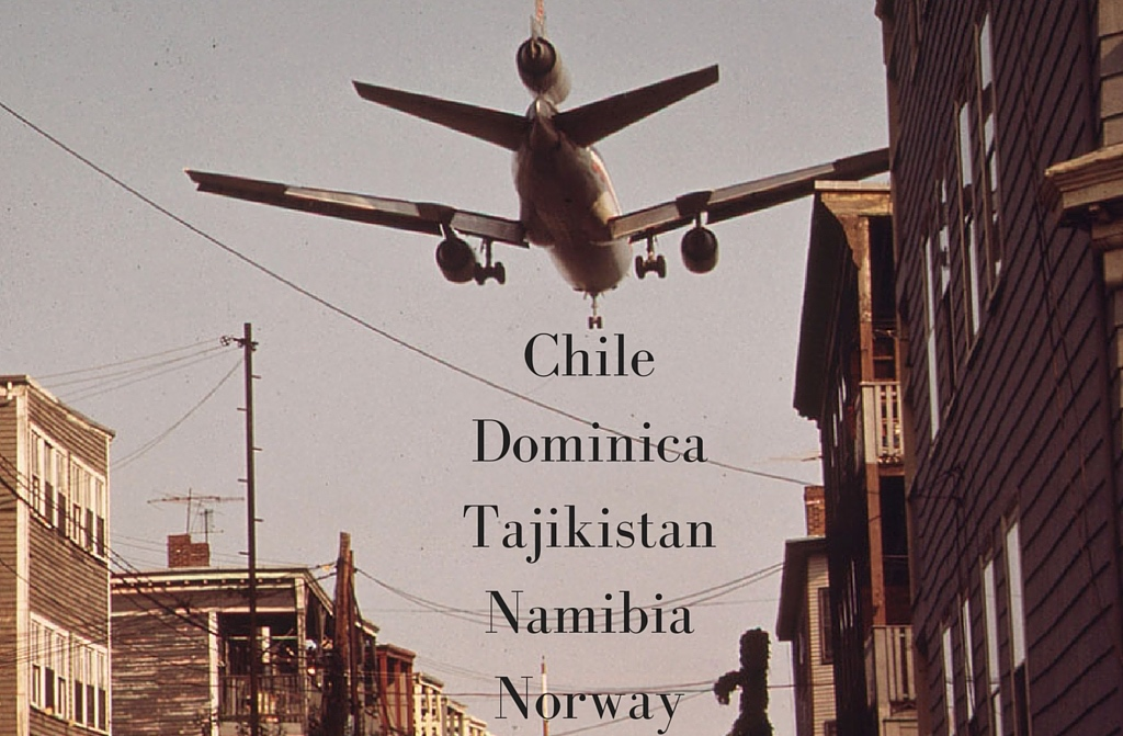 Ryan's top five countries to visit: Chile, Dominica, Namibia, Norway, and Tajikistan.