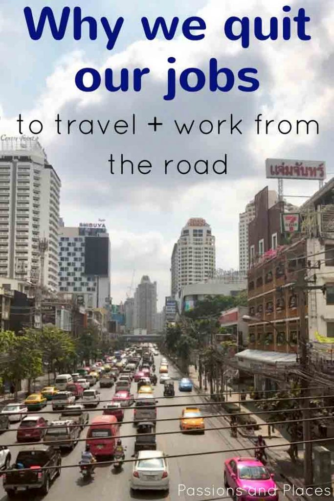 We finally quit our jobs in Boston to travel the world as digital nomads! Now we're in Thailand, engaging in long-term travel and working online for ourselves as travel bloggers and freelance writers. This is the story of our lifestyle design choices and why we're planning to travel in Southeast Asia.