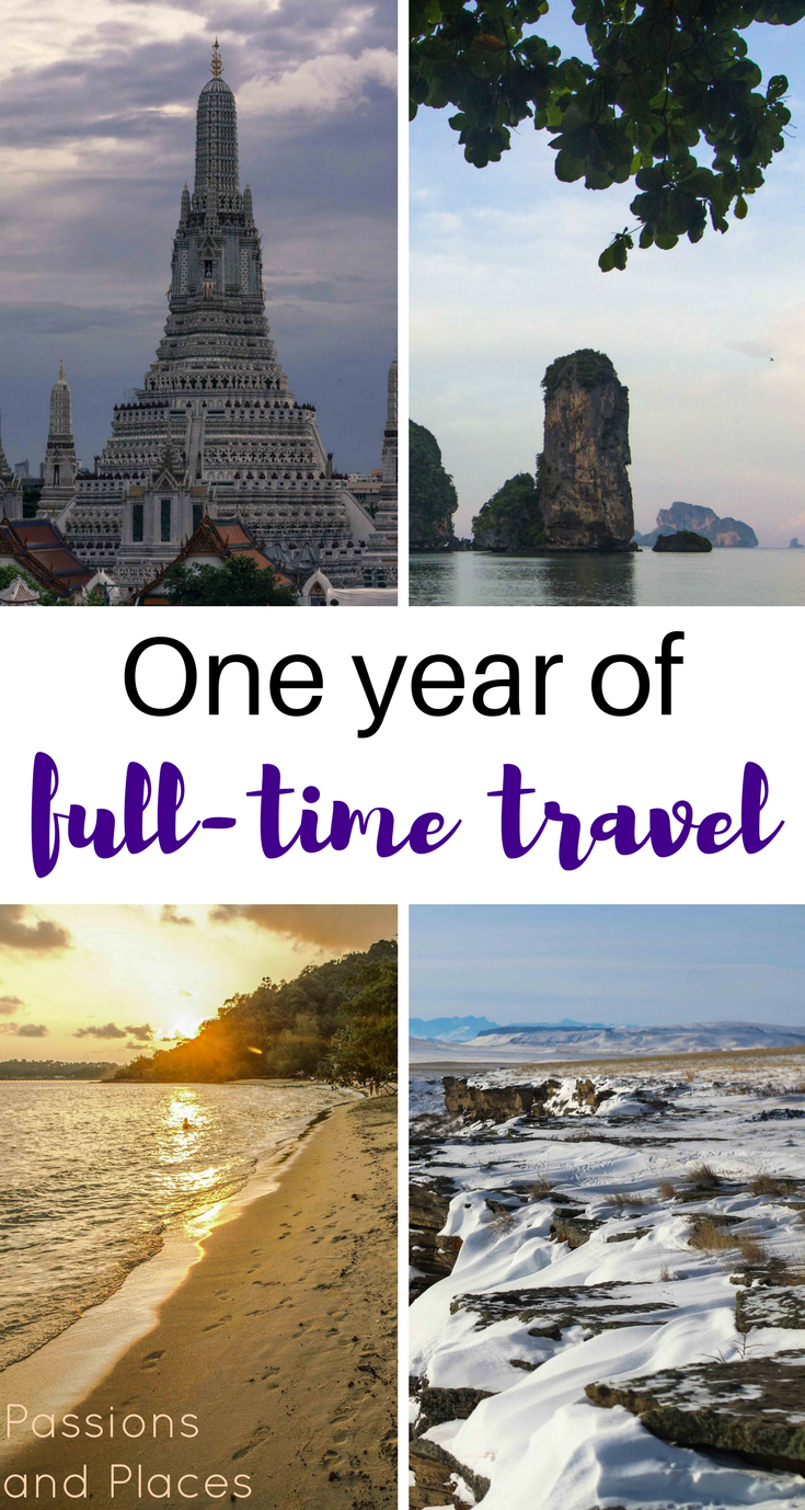 It's officially been a year of full-time travel and working remotely! We started in the U.S. but spent most of the year roaming Southeast Asia: Thailand, Cambodia, Malaysia, and Laos. After a year of travel, we're reflecting on our highs and lows, thinking about long-term travel as a couple, and examining the challenges of working as digital nomads.