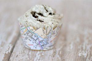 Map Cupcake Wrap