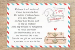 Honeymoon Fund Request Card