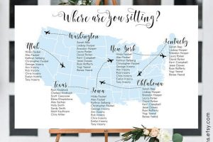 USA Map Seating Chart