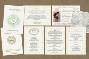 Passport-Style Wedding Itinerary