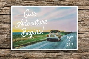 On the Road Save the Date Card