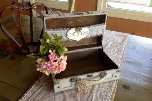Rustic Suitcase Card Box