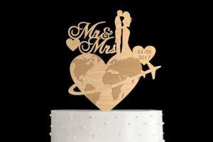 World Map Cake Topper