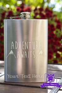 """Adventure Awaits"" Flask"