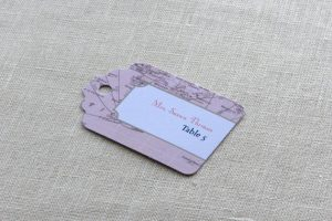Luggage Tag Seating Cards