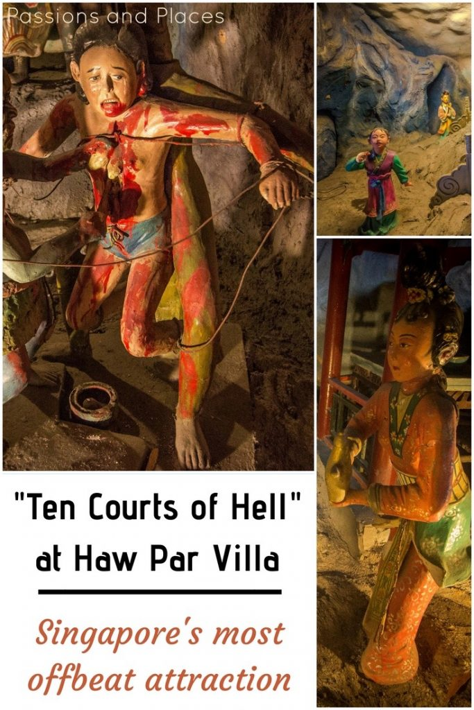 Looking for free things to do in Singapore, or just something off the beaten path? Look no further than Haw Par Villa, a truly unusual museum-cum-theme park that's free to visit. Ten Courts of Hell is the most popular exhibit, depicting the Buddhist concept hell in all its gruesomeness. #Singapore #HawParVilla