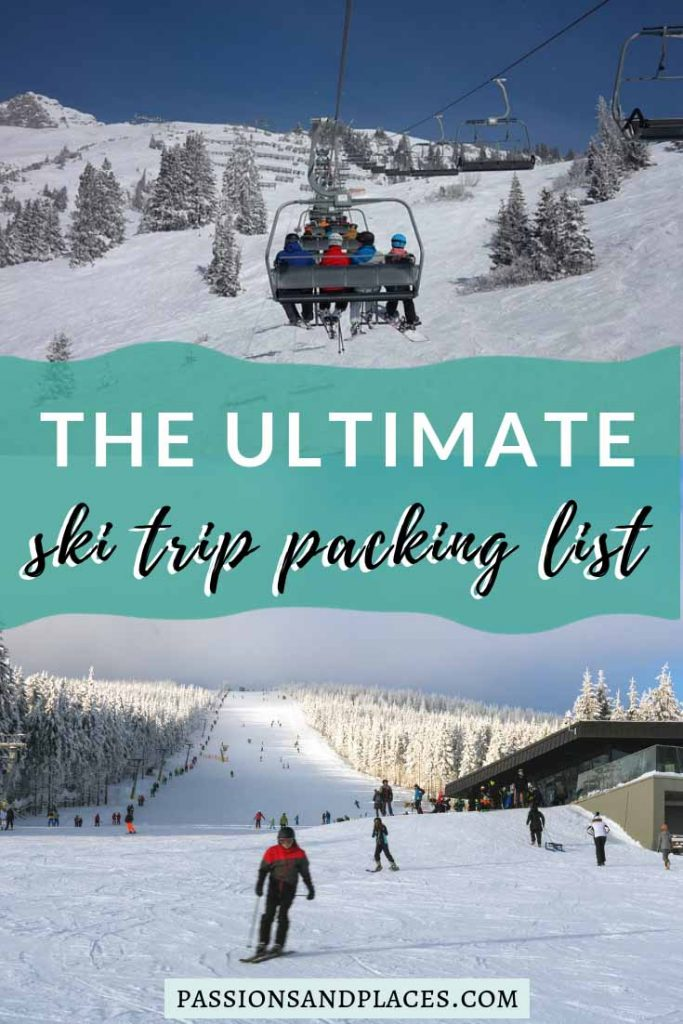 Planning a ski trip this winter, but not sure what to bring? Use this ski trip packing list to make sure you've got everything you need, including clothes for skiing, key toiletries, and other accessories. Skiing and snowboarding are notoriously expensive, but this post includes some tips for getting your ski trip essentials on a budget.