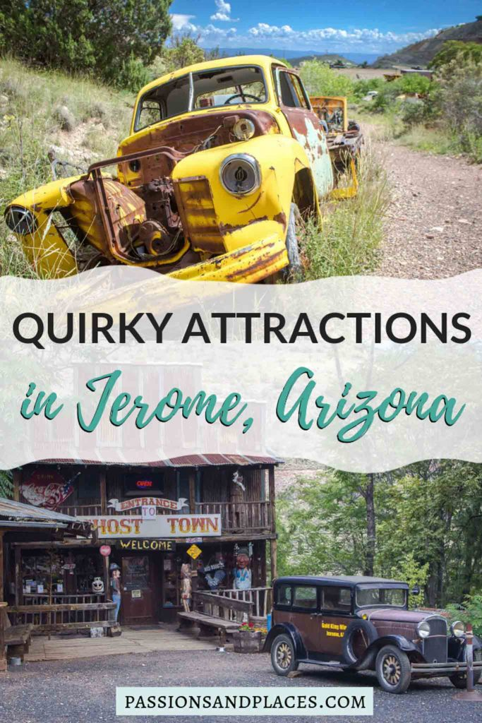 Planning an Arizona road trip? Looking for some day trips from Phoenix? Either way, the town of Jerome, AZ, is the perfect offbeat place to explore. Just two hours from Phoenix, it's an almost ghost town now packed with unusual things to do. Read about these quirky attractions in Jerome, and you'll be dying to see them for yourself!