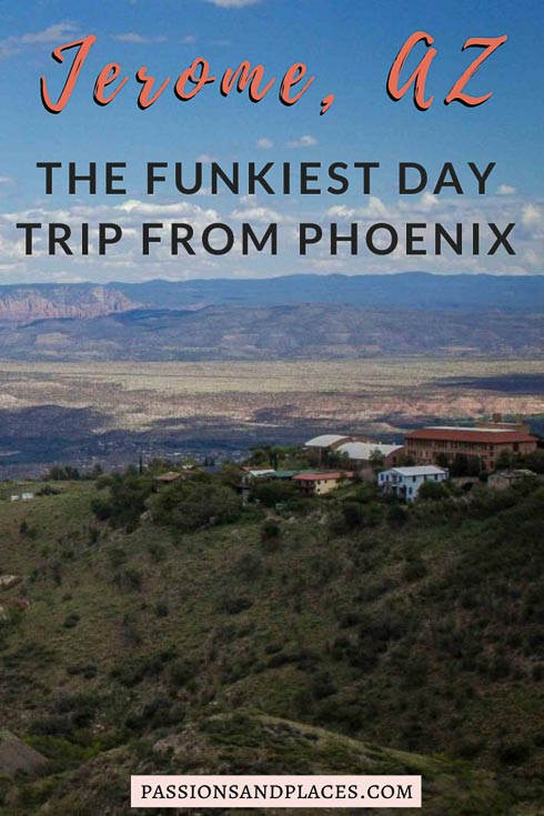 Are you planning an Arizona road trip? Or looking for ideas for day trips from Phoenix? The town of Jerome, Arizona, is the perfect offbeat place to go. Only a two-hour drive from Phoenix, it's rumored to be haunted and packed with quirky attractions. Read about Jerome, AZ, and you'll be dying to see it yourself! #arizona #jeromeaz #jeromearizona