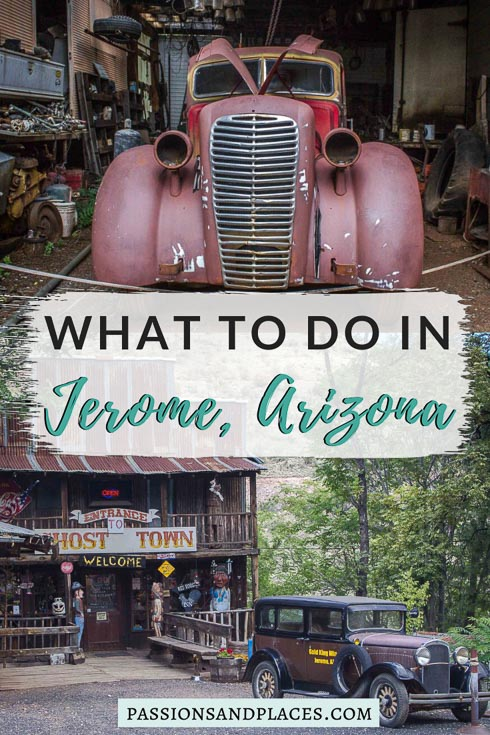 Planning an Arizona road trip? Looking for some day trips from Phoenix? Either way, the town of Jerome, AZ, is the perfect offbeat place to explore. Just two hours from Phoenix, it's an almost ghost town now packed with unusual things to do. Read about these quirky attractions in Jerome, and you'll be dying to see them for yourself! #arizona #jeromeaz #jeromearizona