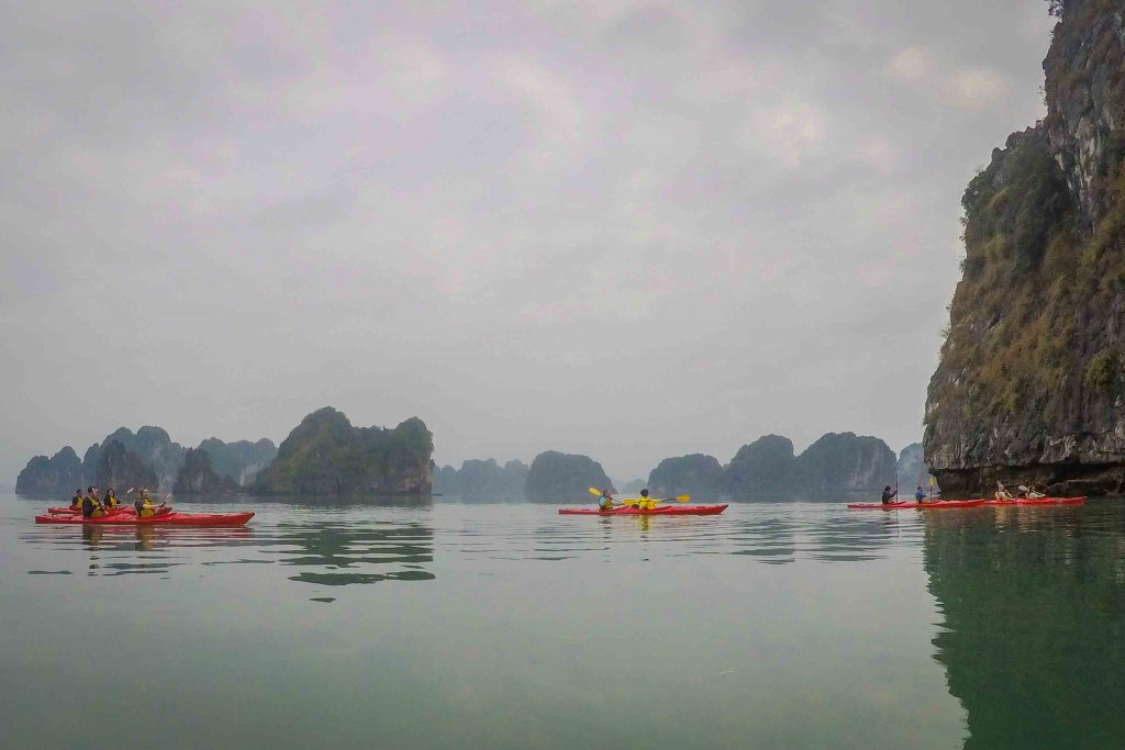 A Halong Bay cruise is the top thing to do in Vietnam - but the bay has become overcrowded, heavily polluted, and unsustainable. For a more ethical trip, look for a Halong Bay alternative like neighboring Bai Tu Long Bay, Vietnam, instead. Here's what to consider about Bai Tu Long Bay or Halong Bay, plus a guide to planning your trip. #Vietnam #HalongBay #BaiTuLongBay