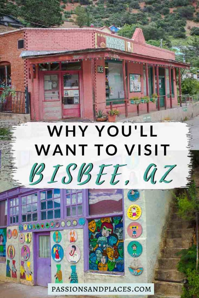 Bisbee, AZ, is one of the best Tucson day trips, but this historic, artsy town easily warrants a longer visit. An old mining town that's become a haven for hippies and creatives, Bisbee is packed with unusual art, interesting attractions, and great places to wander. This guide has the best things to do in Bisbee, Arizona, plus recommended hotels and restaurants. If you go on an Arizona road trip, make sure Bisbee is on your itinerary! #bisbee #bisbeeaz #arizona