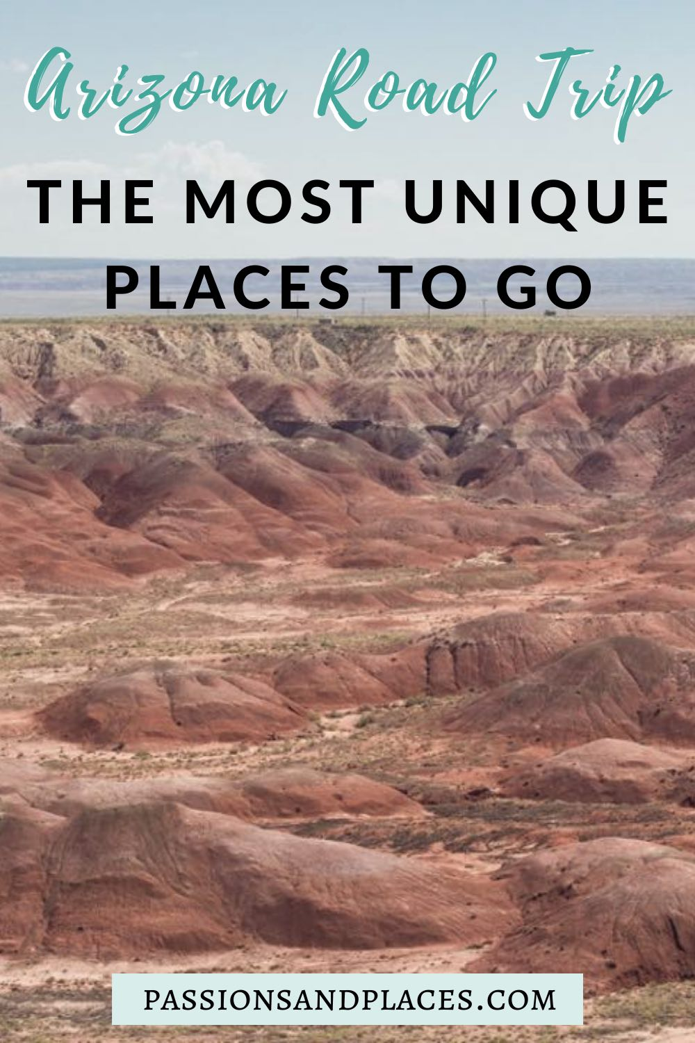 Are you thinking about taking an Arizona trip? This state is perfect for road trips and jam-packed with places to see. If you want to get off the beaten path, check out this list of unique places to go in Arizona, including Jerome, Kingman, Petrified Forest National Park, and more! #az #arizonatrip #offthebeatenpath