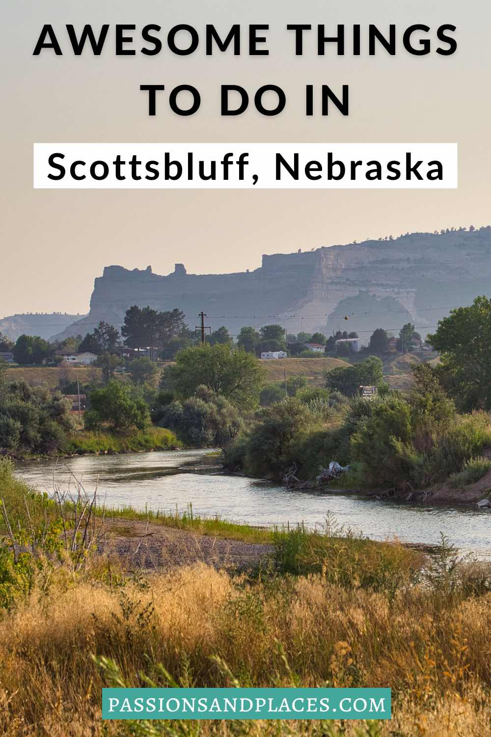 Scottsbluff, NE, is an offbeat town in western Nebraska with a lot to offer. This list of things to do in Scottsbluff includes art, history, food, outdoors, and much more. Read about museums, restaurants, day trips from Scottsbluff, and of course Scotts Bluff National Monument. #scottsbluffne #nebraskapandandle #westnebraska